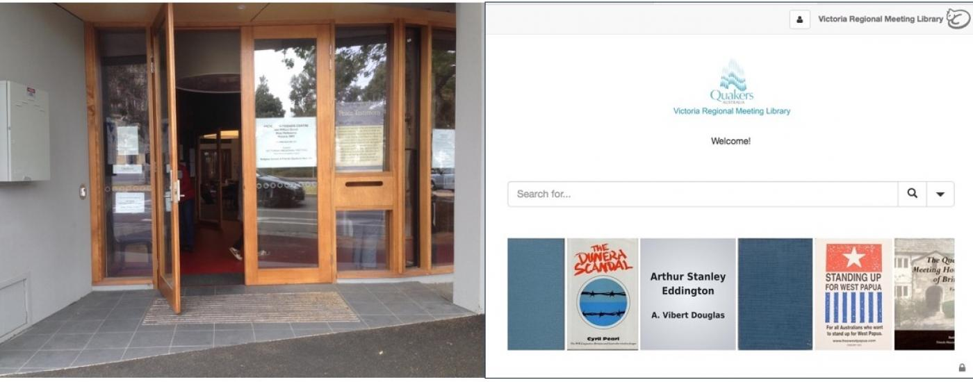 VFC entrance and library catalogue